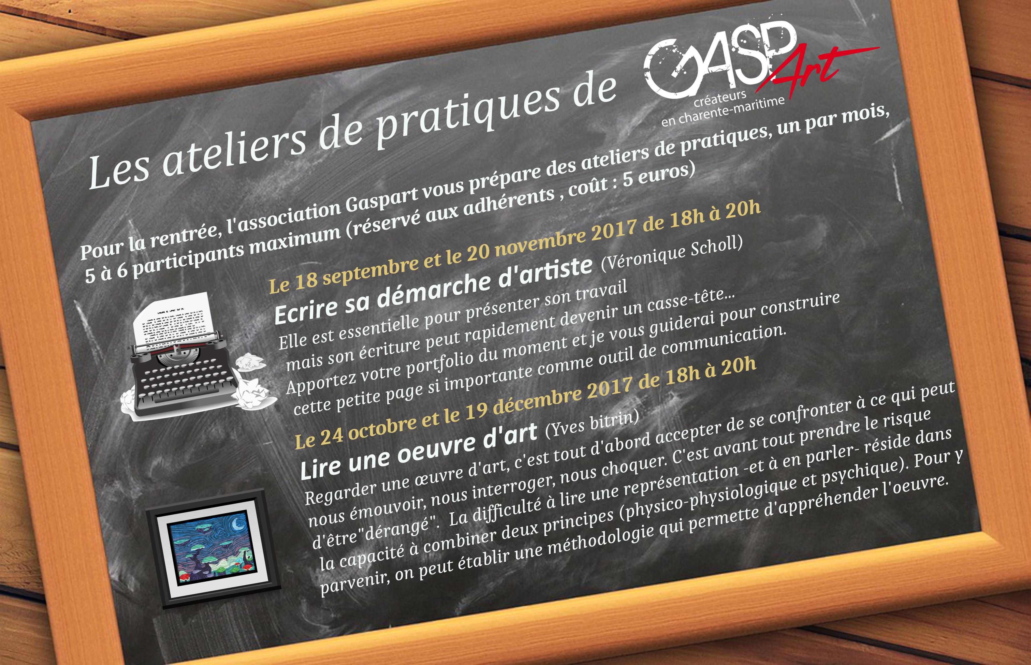 Ateliers pratiques Gaspart