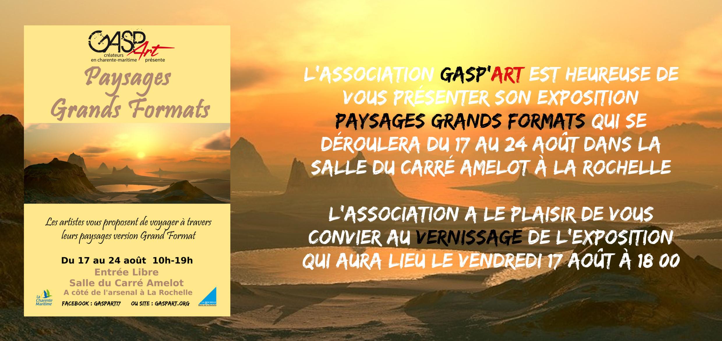 Vernissage GASPART artistes et créateurs en Charente-Maritime