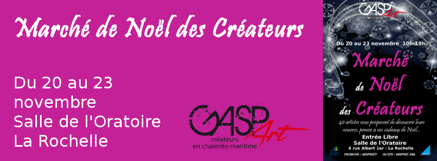 Marché de Noel GASPART artistes et créateurs en Charente-Maritime