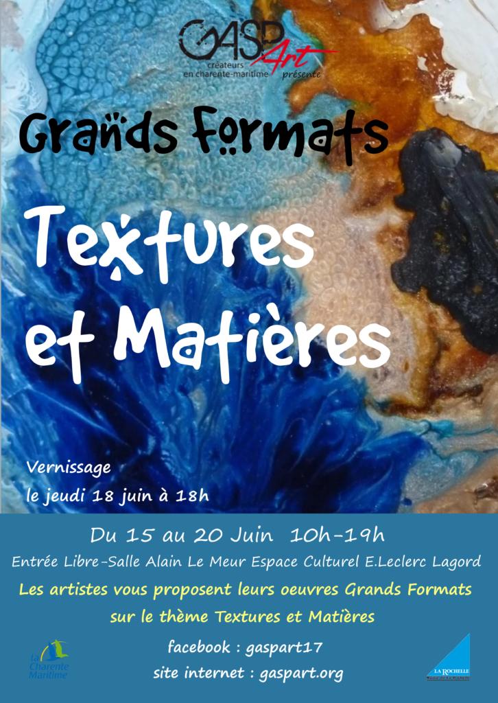 Grands Formats textures et matières asso gaspart artistes et créateurs en Charente-Maritime