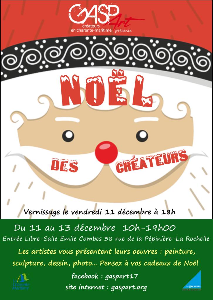 Noël des Créateurs asso gaspart marché de Noël artistes et créateurs en Charente-Maritime